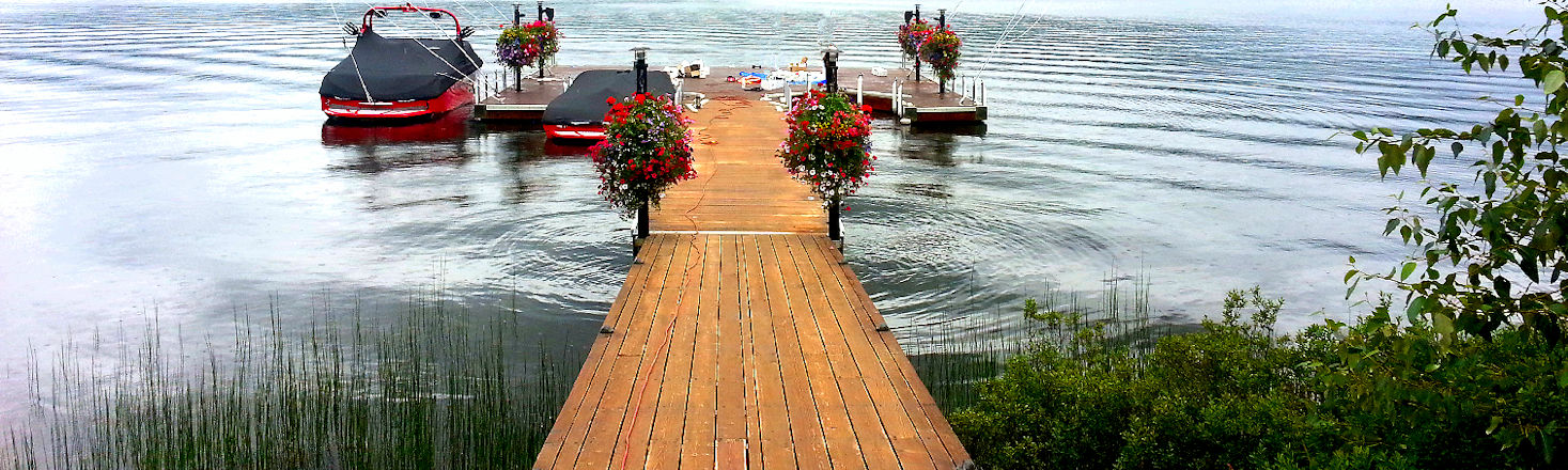 Wood Boat Dock